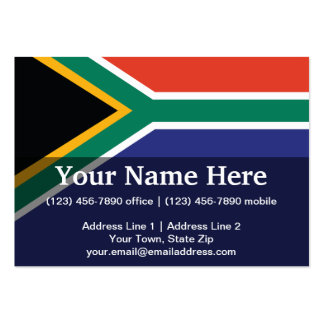 South Africa Plain Flag Business Card Template