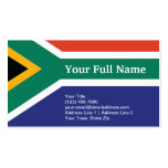 South Africa Plain Flag Double-Sided Standard Business Cards (Pack Of 100)