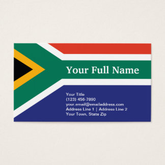 South Africa Plain Flag Business Card
