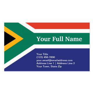 South Africa Plain Flag Business Card