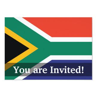 South Africa Plain Flag Card