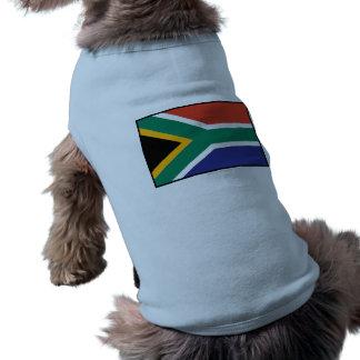 South Africa Plain Flag Doggie T Shirt