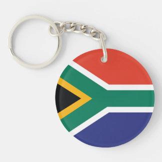 South Africa Plain Flag Keychain