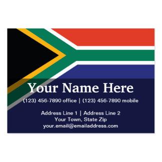 South Africa Plain Flag Large Business Card
