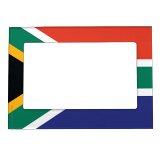 South Africa Plain Flag Magnetic Photo Frame
