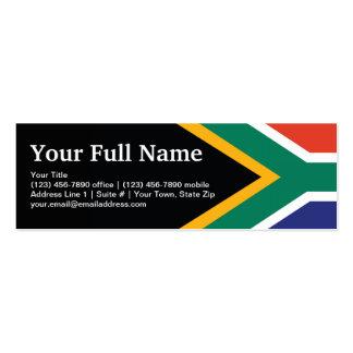 South Africa Plain Flag Mini Business Card