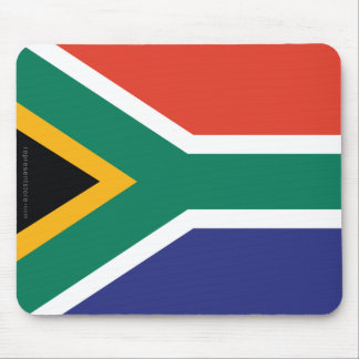 South Africa Plain Flag Mousepads