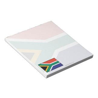 South Africa Plain Flag Notepad