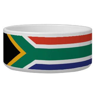 South Africa Plain Flag Pet Bowls