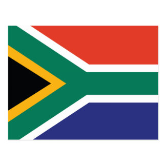 South Africa Plain Flag Postcard