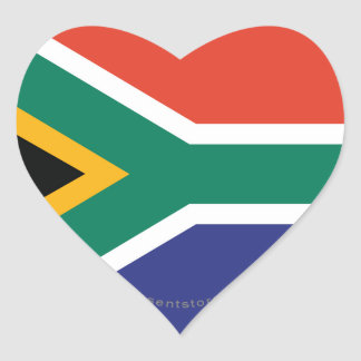 South Africa Plain Flag Stickers