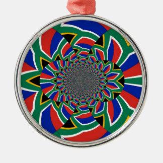South Africa Premium Round Ornament