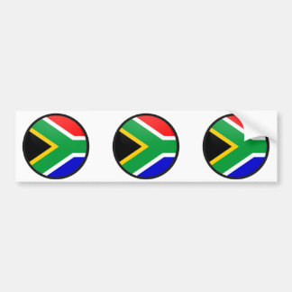 South Africa quality Flag Circle Car Bumper Sticker