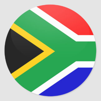 South Africa quality Flag Circle Classic Round Sticker