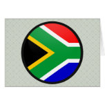 South Africa quality Flag Circle Greeting Card