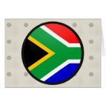 South Africa quality Flag Circle Greeting Cards