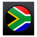 South Africa quality Flag Circle Posters