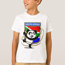 Kids' Hanes TAGLESS® T-Shirt with South Africa Rhythmic Gymnastics Panda design
