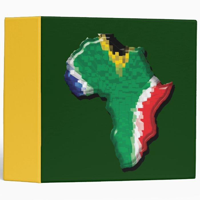 South Africa RSA African flag files Binder