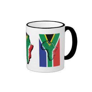 South Africa RSA African flag Ringer Coffee Mug