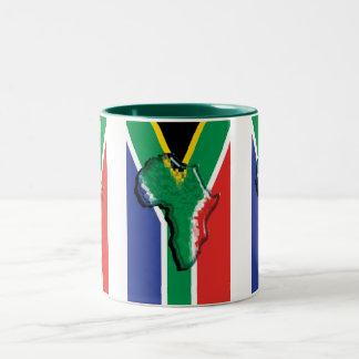 South Africa RSA African flag Two-Tone Coffee Mug
