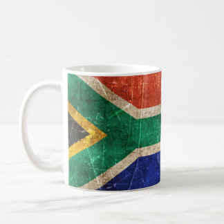 South Africa scratched wVintage Aged and Scratched Coffee Mug