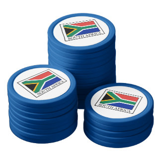 South Africa Set Of Poker Chips