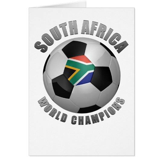 SOUTH AFRICA SOCCER CHAMPIONS CARD