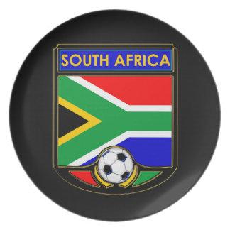 South Africa Soccer Dinner Plate