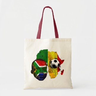 South Africa soccer lovers South AFrican flag face Canvas Bag