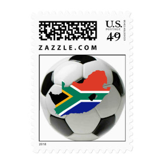 South Africa soccer postage stamp