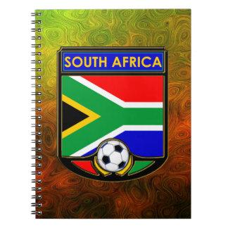 South Africa Soccer Spiral Notebook