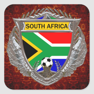 South Africa Soccer Square Sticker