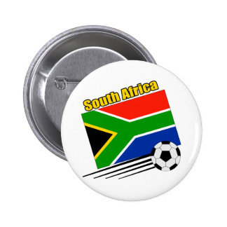 South Africa Soccer Team 2 Inch Round Button