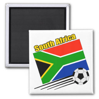 South Africa Soccer Team 2 Inch Square Magnet