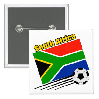 South Africa Soccer Team 2 Inch Square Button