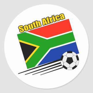 South Africa Soccer Team Classic Round Sticker
