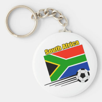 South Africa Soccer Team Basic Round Button Keychain