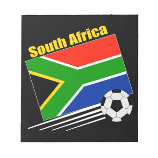 South Africa Soccer Team Memo Notepad