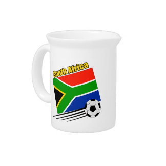 South Africa Soccer Team Drink Pitchers