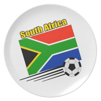 South Africa Soccer Team Plates