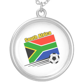 South Africa Soccer Team Round Pendant Necklace