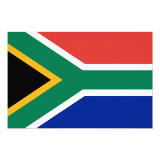South Africa – South African Flag Photo Print