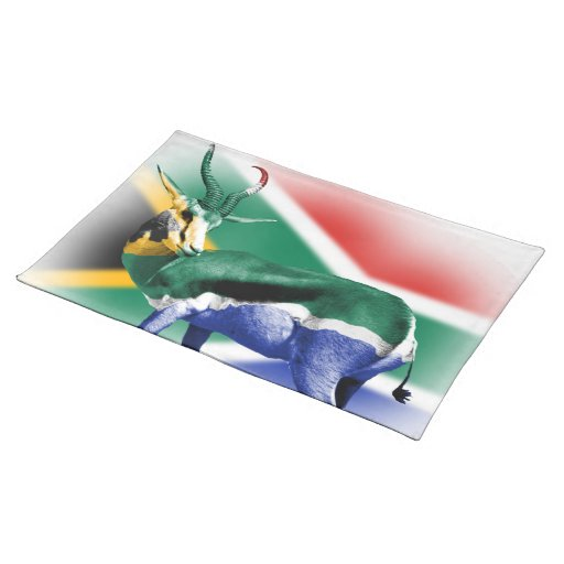 South Africa Springbuck Flag MoJo Placemats