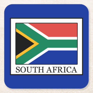 South Africa Square Paper Coaster