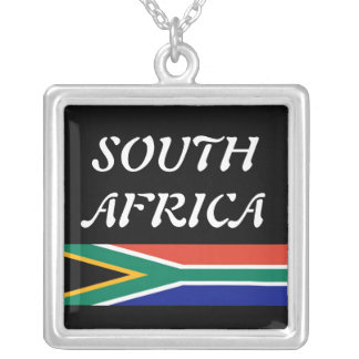 South Africa Square Pendant Necklace