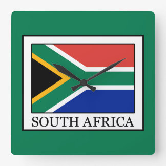 South Africa Square Wall Clock