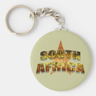 South Africa Star Tees & South African Star gifts Basic Round Button Keychain