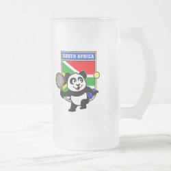 Frosted Glass Mug with South Africa Tennis Panda design