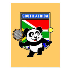 Postcard with South Africa Tennis Panda design